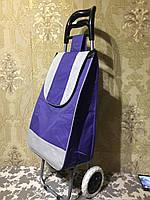 Тележка хозяйственная с  атласной малиновой сумкой, фото 1