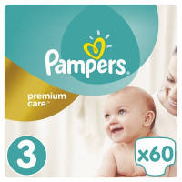 Подгузники Pampers Premium Care Dry Max Midi 3 (4-9 кг) 60 шт.