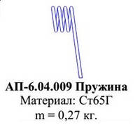 АП-6.04.009 Пружина к агрегату предпосевному АП-6