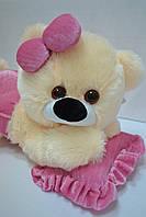 Плюшевая мишка Малышка персиковая с розовым, фото 1
