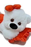 Плюшевая мишка Малышка 45 см белый с красным, фото 1