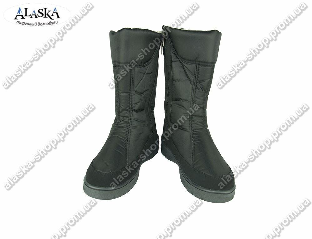 Женские дутики черные (Код: 005-1)
