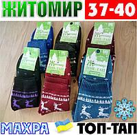Женские носки с махрой тёплые зимние Житомир ТОП-ТАП  Украина 37-40 размер  НЖЗ-01409