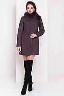 Шерстяное пальто МЕЛИНИ 3360 шоколад Мodus 44-48 размеры