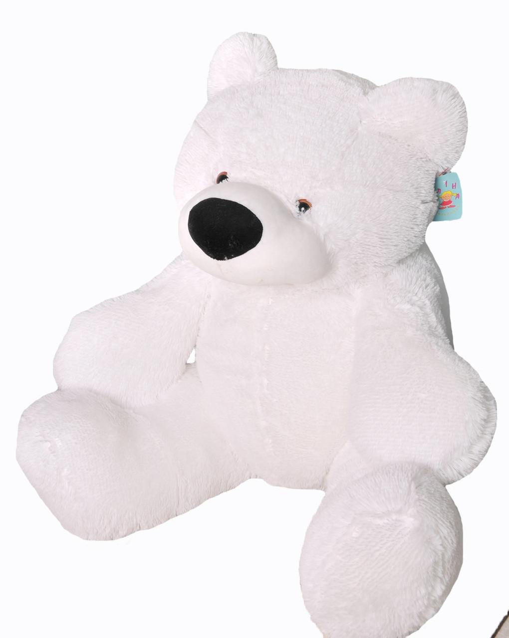 Плюшевый Медведь Алина Бублик 110 см белый, фото 1