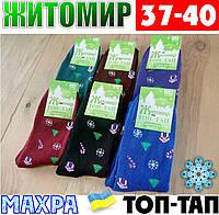 Женские носки с махрой тёплые зимние Житомир ТОП-ТАП  Украина 37-40 размер ассорти  НЖЗ-01413