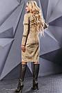 Платье замшевое с вышивкой женское бежевое, фото 5