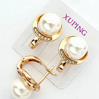 Серьги жемчуг позолота Xuping