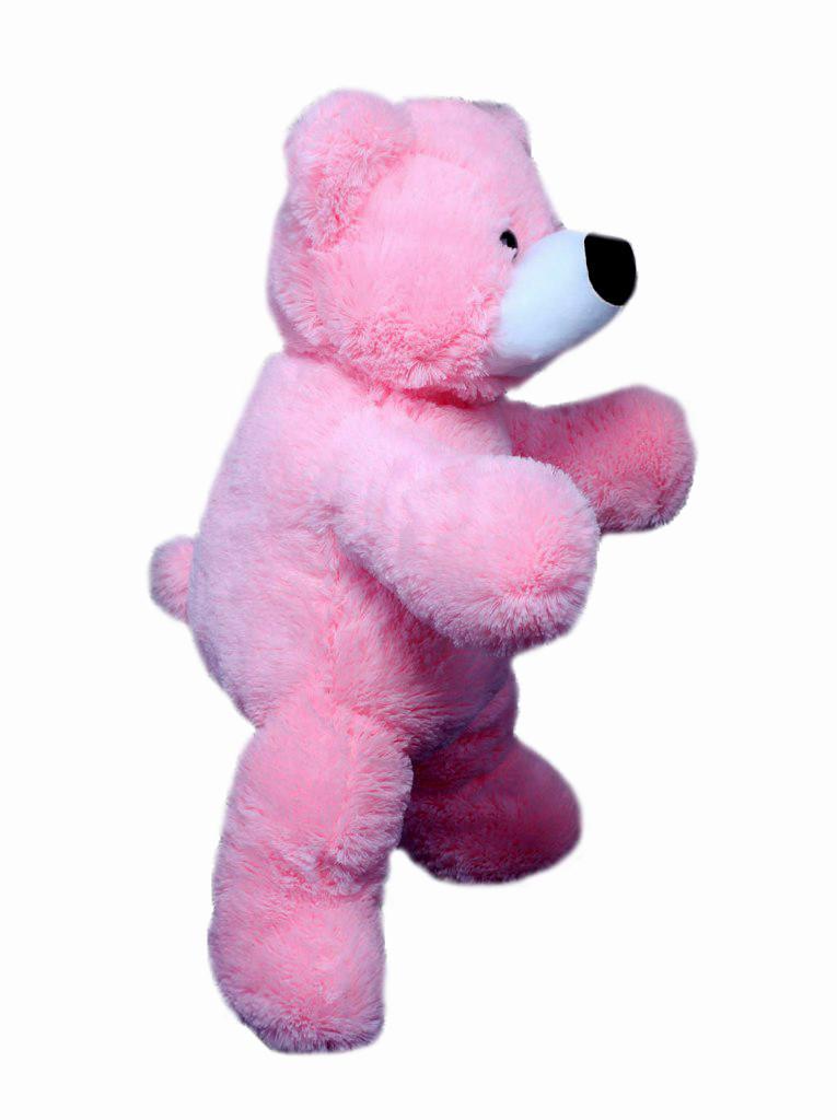 Мягкая игрушка медведь Алина Бублик 77 см розовый