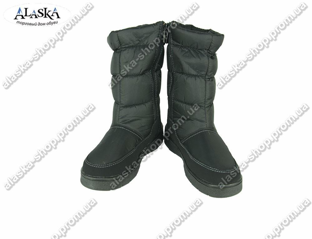 Женские дутики черные (Код: 010)