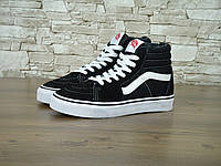 Женские кеды Vans The Old Skool SK8 Black White Classic