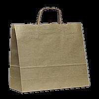 Пакет Бурый с кручеными ручками 370х135х80  (821)