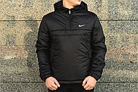 Утеплённый черный мужской анорак Nike Intruder (куртка, ветровка) ОПТ и розница, фото 1