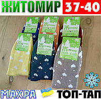 Женские носки с махрой тёплые зимние Житомир ТОП-ТАП  Украина 37-40 размер  НЖЗ-01408