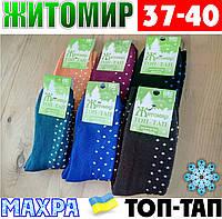 Женские носки с махрой тёплые зимние Житомир ТОП-ТАП  Украина 37-40 размер ассорти  НЖЗ-01415