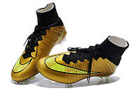 Футбольные бутсы Nike Mercurial Superfly FG Gold/Black 43, фото 1