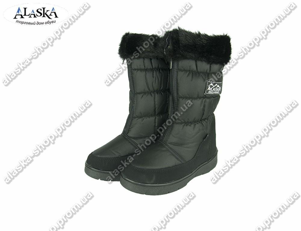 Женские дутики черные (Код: 003)