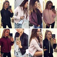 Куртка женская весна-осень .ткань плащевка , Бордо, пудра,чёрный  синтепон 150 вкот № 6710