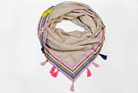 Оригинальный квадратный женский платок большого размера