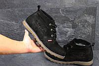 Мужские полуботинки Levis (черные), ТОП-реплика, фото 1