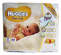 Подгузники Huggies Elite Soft Newborn 2 (4-7 кг) - 24 шт.