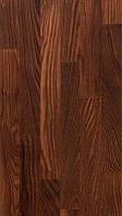 Паркетная доска Wood Floor Ясень Какао, 3-х полосная, браш, лак, комфорт, термо