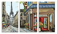 Модульная картина Париж рисунок