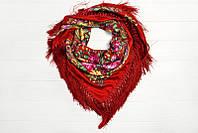 Женский платок из разнообразных узоров в этностиле