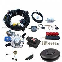 Комплект ГБО 4 поколения ХарПромТех AC S A DIGITRONIC Мульт Tomasetto+Maxi 2,ред Alaska, форс Valtek + баллон
