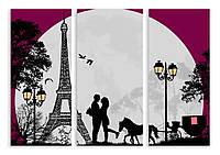 Модульная картина влюбленные в Париже