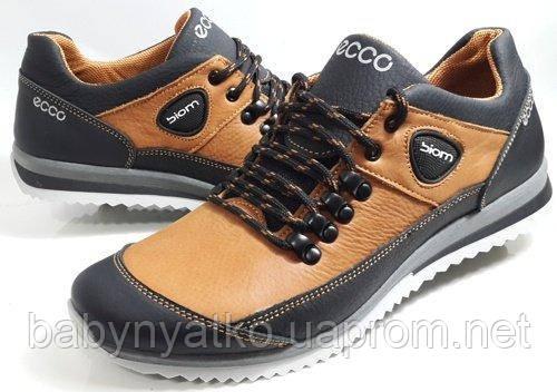 39dd8454 Кожаные мужские кроссовки Ecco model E21 рыжие р.40-45 на осень и весну  отличного качества