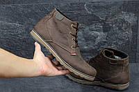 Мужские полуботинки Levis (коричневые), ТОП-реплика, фото 1