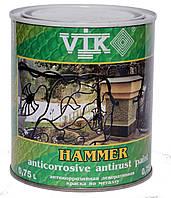 Антикорозийная краска по металлу Hammer VIK, (антрацит) ,(140) 0,75 л.