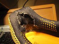 Ремонт задников в спортивной обуви