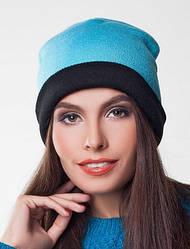 Женская вязаная зимняя шапка
