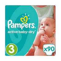 Подгузники Pampers Active Baby-Dry Midi 3 (4-9 кг) Giant Pack, 82 шт.