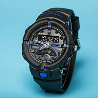 Стильные часы Casio  G-Shock GA-500 BLACK-BLUE  (касио джи шок)