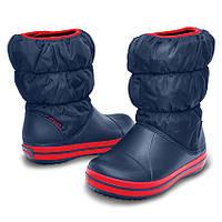 Сапоги зимние для мальчика Crocs Kids Winter Puff Boot / сноубутсы детские непромокаемые дутики