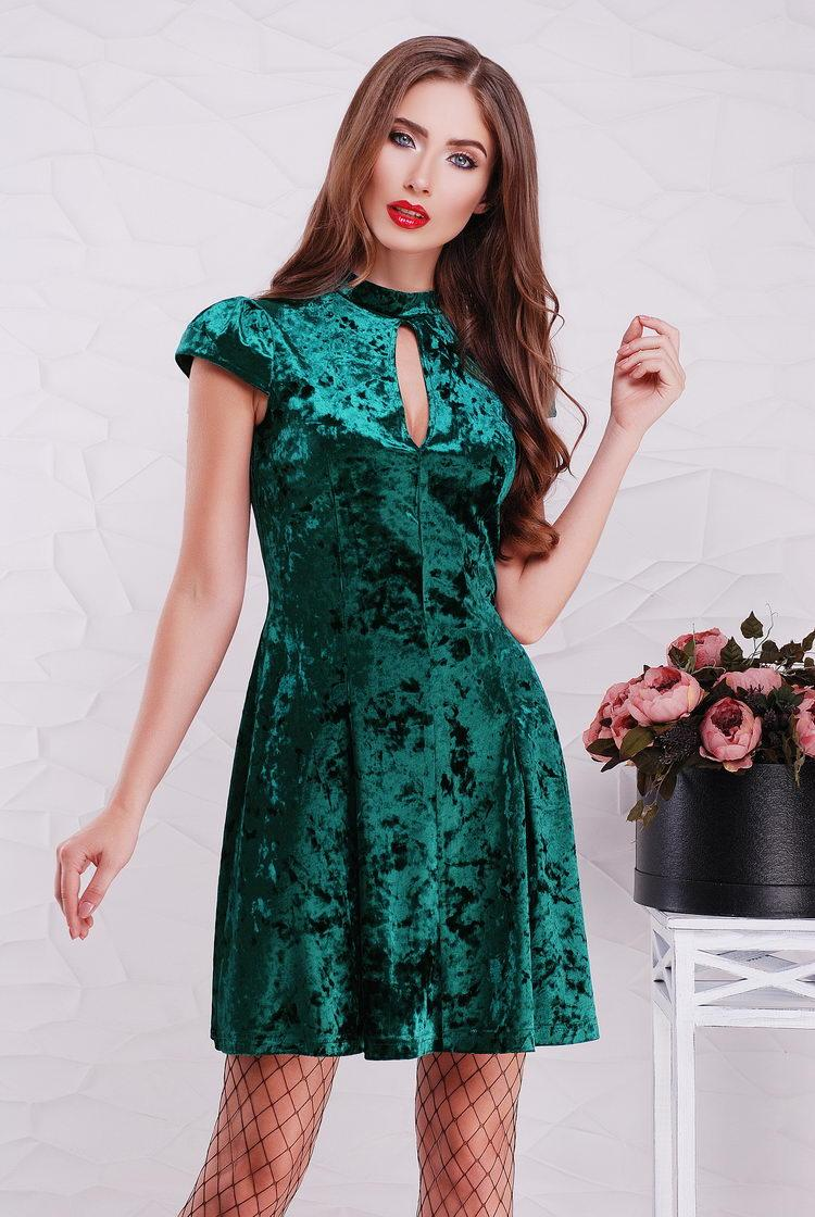eb1b40a9ca3 Вечернее платье бархатное изумрудного цвета 42-48 - TIASS - женская одежда  обувь от фабрик