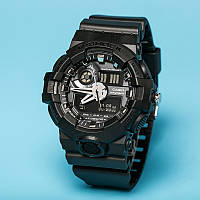Стильные часы Casio  G-Shock  GA-500 ALL BLACK  (касио джи шок)