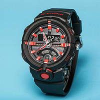 Стильные часы Casio  G-Shock GA-500 BLACK-RED  (касио джи шок)