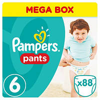 Подгузники-трусики Pampers Pants Extra Large 6 (16+ кг) MEGA PACK, 88 шт.