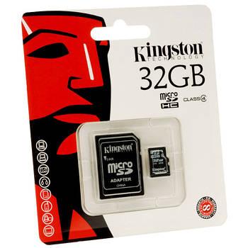 Карта памяти MicroSD KINGSTON 32Gb class 4 D100