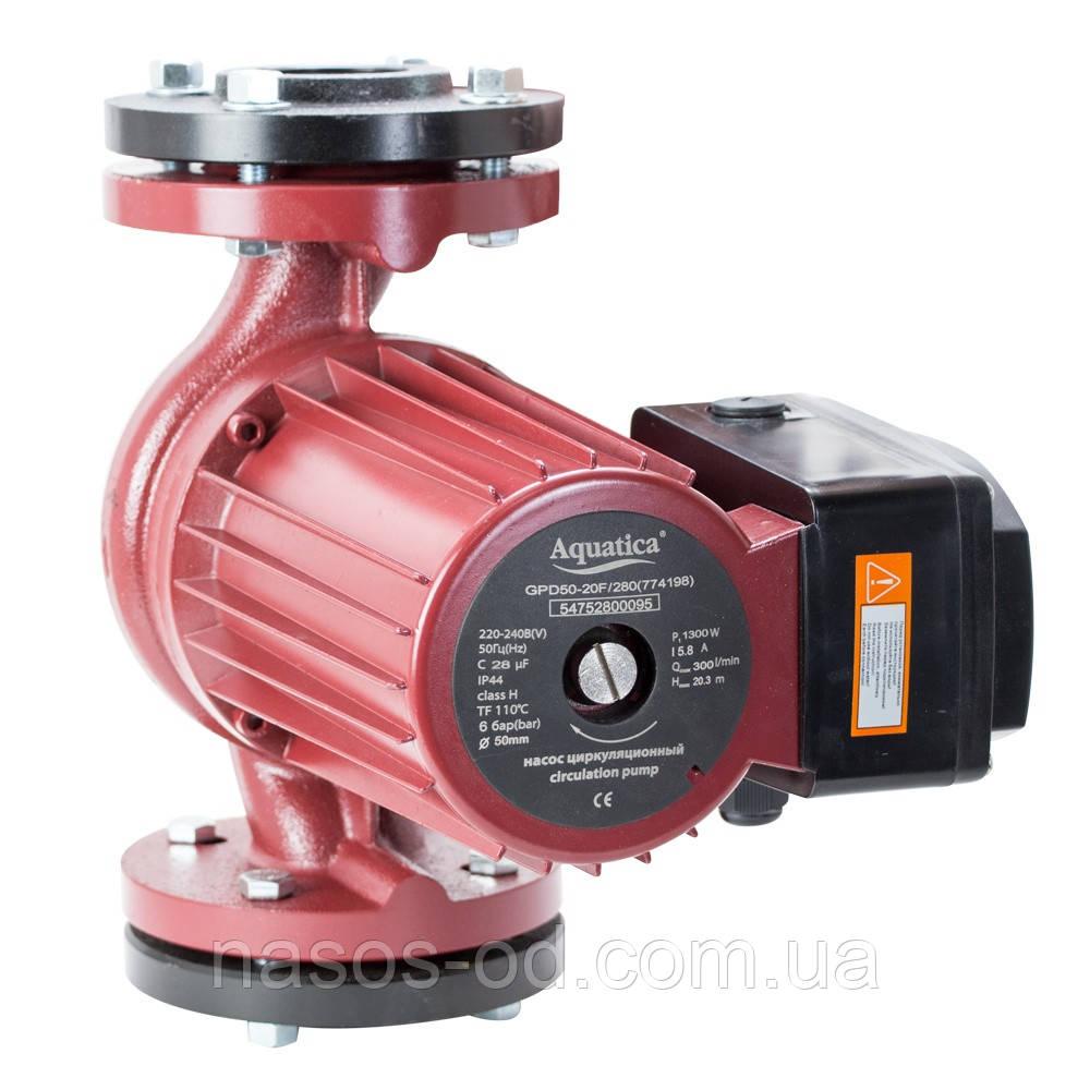 Циркуляционный насос для системы отопления фланцевый 1.3кВт Hmax20.3м Qmax300л/мин DN50 280мм+ответный фланец