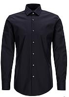 Рубашка черная мужская Slim