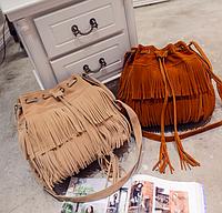 Женская сумка повседневная с бахромой