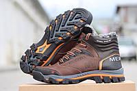 Мужские зимние кожаные ботинки Merell brown