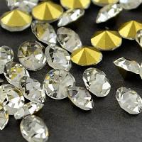 Стразы бриллиант Класс А, стекло, цвет - кристалл, 4,9~5 мм