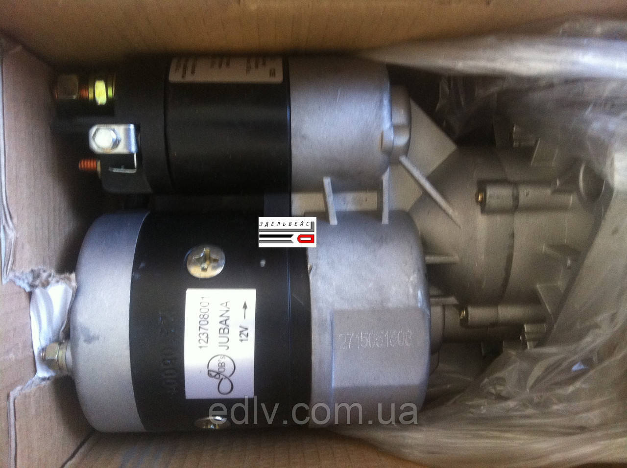 Стартер МТЗ, Т-40, Т 25 12В 2,7 кВт (ТМ JOBs) 123708001