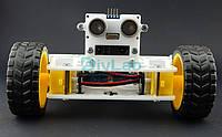 Ультразвуковий датчик відстані 0-5м + Інфрачервоний давач GP2Y0A02YK0F з кріпленням для платформи T-BOT, фото 1